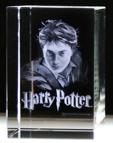 Harry Potter i kristallblock 60x90x60 mm