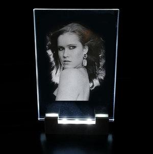 Ljusram Optiwhite-glas 90x130x8 mm inkl. LED-belysning i plast