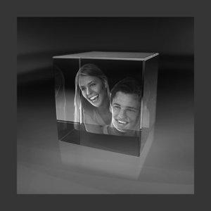 Cube 80x80x80 mm (3 faces)