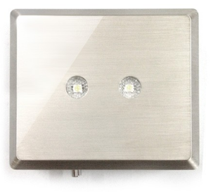 "Lighting ""Brushed Steel Finish"" 70x60x20 mm"