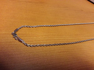 Rope Chain Nickel Plated 2,5x510mm