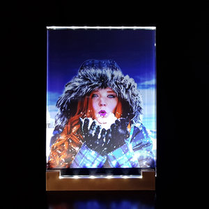 Crystal Photo in Color with LED Lighting 130x180x8mm