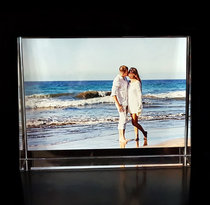Crystal Photo Frame Prism in Color 140x105x35mm