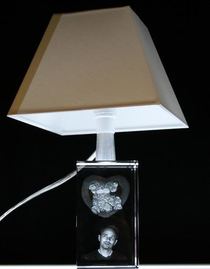 Table Lamp with Crystal Foot. Foot Size 70x120x70 mm