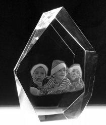 Crystal Block Iceberg Large 171x132x61 mm (3 faces)