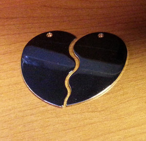 Heart Halves Nickel Plated 50x45x1,5mm