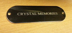 Door Sign/NamePlate Gold Plated 70x24x1,5mm