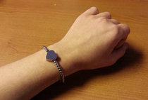 Berlockarmband 'Alessa'  + en hjärtformad berlock med din text