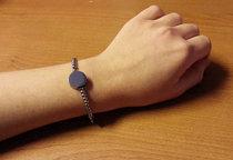 Berlockarmband 'Alessa'  + en cirkelformad berlock med din text