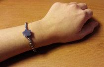 Berlockarmband 'Alessa'  + en blomformad berlock med din text