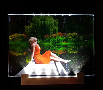 Crystal Photo in Color with LED Lighting 180x130x8mm