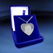 Hjärta stort 35x32x2mm silver