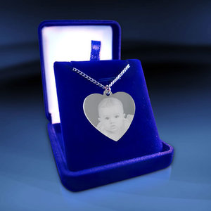 Heart Large 35x32x2mm Silver