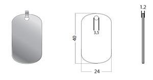 Tag Small 24x40x1.2mm Silver